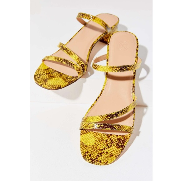 13042f47d UO Claudia snake print strappy sandal